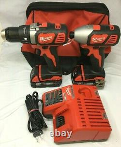 Milwaukee 2691-22 M18 18-Volt Cordless Power Lithium-Ion 2-Tool Kit, LN