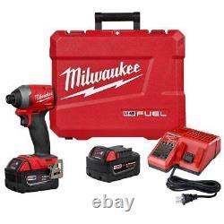Milwaukee 2853-22 M18 FUEL 18V 1/4-Inch HEX Cordless Impact Driver Kit