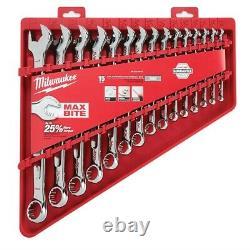 Milwaukee 48-22-9415 Max Bite Combination Wrench Set SAE 15 Piece