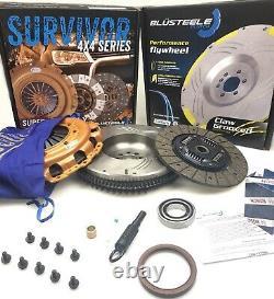 SUPER HEAVY DUTY SURVIVOR Clutch Kit FLYWHEEL for NISSAN NAVARA D40 YD25 250mm