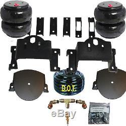 Silverado air bag helper springs kit with 4 ply airbags no drill 2011-17 8 lug