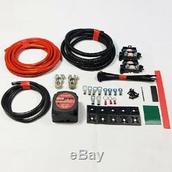 Split Charge Kit Relay 4mtr 12V 140 Amp Voltage Sensitive Heavy Duty 4 Metre