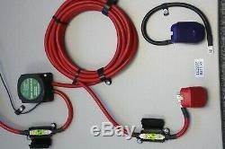 Split Charging 140 Amp Kit for Leisure Battery 7m, Heavy Duty Campervan VSR Kit