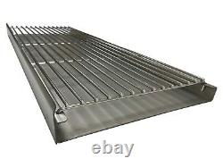 Stainless Steel Heavy Duty DIY Brick Charcoal BBQ Kit Extra Large 112cm x 40cm