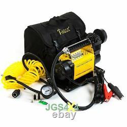 T-MAX 12V Compressor HEAVY DUTY Portable 4x4 Tyre Air Pump + Tyre Repair Kit