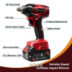 Toolman Cordless Impact Wrench kit 21V with Drill Set 7 pcs Heavy Duty 310N. M tq