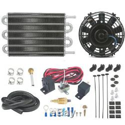 Trans Oil Cooler Electric Fan Thermostat Switch Kit Truck Rv Heavy Duty Towing