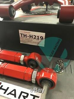 Truhart Front & VMS Rear Red Camber Kit Combo For 97-01 Honda CRV TH-H219
