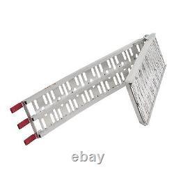 Warrior Aluminium Folding Loading Ramp & Heavy Duty Wheel Chock Combo