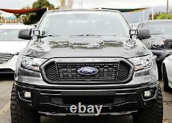 White LED A Pillar Driving Lights withAmber Strobe Feature For 2019-up Ford Ranger