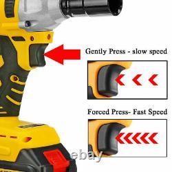 1/2 68v Brushless Impact Wrench Torque Rattle Gun Kit Batterie Électrique Sans Fil