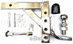 10 Chrome Réglable Goutte Attache-remorque Support De Boule D'attelage De Remorque Heavy Duty Kit