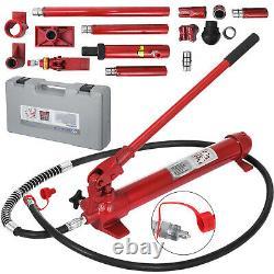 10 Ton Porta Power Hydraulique Jack Body Frame Repair Kit Auto Shop Outil Lift Ram
