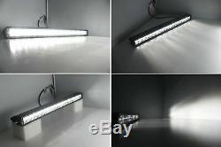 100w 21 Led Light Bar Avec Capot Support De Montage, Câblage Pour 07-17 Jeep Wrangler