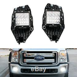 100w Led Hybride-beam Pods Withfoglight Emplacement Support / Câblage Pour 11-16 F250 F350