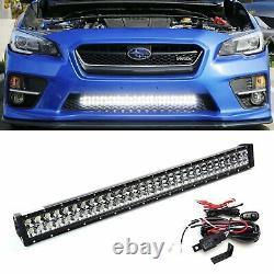 180w 30 Barre D'éclairage Led Avec Support De Pare-chocs Inférieur, Boucles Pour 15-18 Subaru Wrx Sti