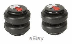 2 Standard 2500 Lb Air Sacs 1 / 2npt Single Port Heavy Duty Suspension Pneumatique