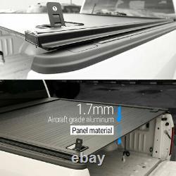 2014-2020 Tundra 5.5ft Lit Tonneau Couverture Rétractable Imperméable À L'eau Aluminium Dur