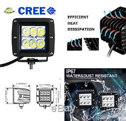 24w Led Avec Pods Foglight Support / Câblages Pour 05-07 Ford F250 F350 F450 Superduty