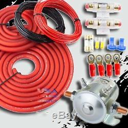 300 Amp Heavy Duty Double / Batterie Auxiliaire Isolateur Cuivre Câbles Kit Complet