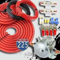 300 Amp Heavy Duty Double Batterie Auxiliaire Isolateur Kit Complet Avec Des Câbles En Cuivre