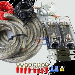 300a Heavy Duty Double Auxiliaire Anl Fusible Batterie 4 Isolateur Awg Fil De Cuivre Kit