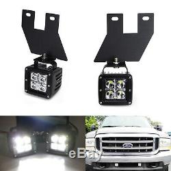40w Cree Led Avec Pods Foglight Support, Câblages Pour Ford F250 F350 F450 Excursion