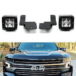 40w Cree Led Balda Lights Avec Support A-pillar/wiring Pour Chevy Silverado 1500 19-up