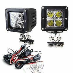 40w Cree Led Pods Avec Universal A-pilier Charnière Support / Câblages Pour Le Camion Jeep Suv