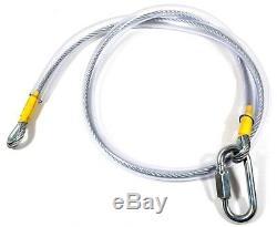 50 Zip Mtr Commercial Ligne Complète Fil Kit Galv Acier 8.0mm Dia Robuste