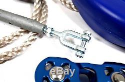 60 Zip Line Mtr Commercial Complet Kit De Câbles En Acier Galvanisé 8.0mm Dia Robuste