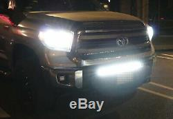 Barre De Lumière 150w 30 Led Avec Supports De Pare-chocs Inférieurs, Câblages Pour Toyota Tundra À 14 Poses