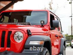 Barre Lumineuse Led De 150w 30 Avec Câblage De Support Supérieur De Capot Avant Pour 18+ Jeep Wrangler Jl