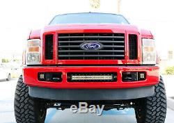 Blanc 24w Led Avec Pods Foglight Support / Câblages Pour 08-10 Ford F250 F350 F450 Sd