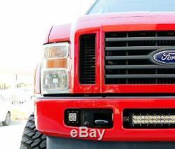 Boîtiers Led 40w Avec Support Anti-brouillard / Câblage Pour 08-10 Ford F250 F350 F450 Superduty