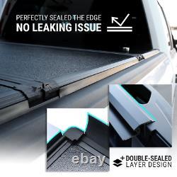 Couvercle Dur Quad Fold Tonneau Pour 2009-2021 F-150 5.5ft Bed Waterproof Aluminium