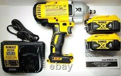 Dewalt 20v Cordless 1/2 Impact Wrench Hog Ring Angil Dcf899hb Kit Dcb204 899hb