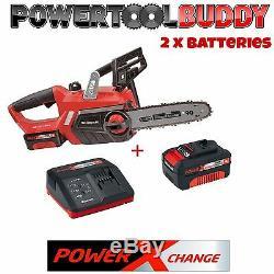 Einhell Heavy Duty 18volt Li-ion Sans Fil Chainsaw + 2 Batteries Et Chargeur B18