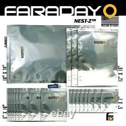 Faraday Cage Emp Sacs, 7.0mil Lourd, 20pc Kit Bulk Lot X-large. Essais