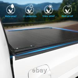Fit 2004-2021 Ford F-150 Tonneau Cover Hard Aluminum Rétractable 5.5ft Lit Court