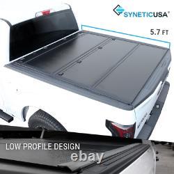 Fit 2009-2018 Ram 1500 5.7ft Short Bed Hard Tri-fold Tonneau Cover Profil Bas