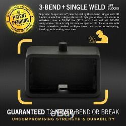 Fits 2007-2018 Gmc Sierra 1500 3,5 + 3 Lift Kit Complet Withdiff Goutte Pro Noir