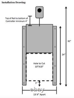 Heavy Duty Automatique Poulailler Ouvre-porte De Minuterie Exploité (kit Complet)