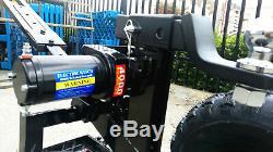 Heavy Duty Motorisé Caravane Remorque Bateau Mover 4000lb Winch Cadre Kit Complet