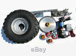 Heavy Duty Motorisé Caravane Remorque Bateau Mover 4000lb Winch Roues Kit