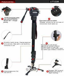 Heavy Duty Professionnel Monopode Kit Fluid Head Appareil Photo Reflex Numérique Caméscope 72 Pouces