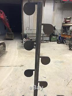 Kit De Bricolage Ar500 Dueling Tree (6) Palette Gong En Acier Robuste De 6 Po X 1/2