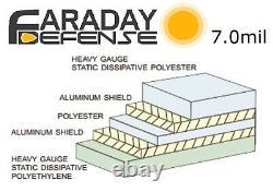 Kit De Bricolage Faraday Cage Xxxl, Emp Esd Bags Material, Heavy Duty Shielding