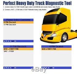 Lancer Heavy Duty Truck Code De Lecteur Scanner De Diagnostic Pour Volvo Ford Chevy Mack
