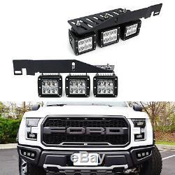 Mega Triple-light 144w Led Phares Anti-brouillard Withmount Support / Câblage Pour 17+ Ford Raptor